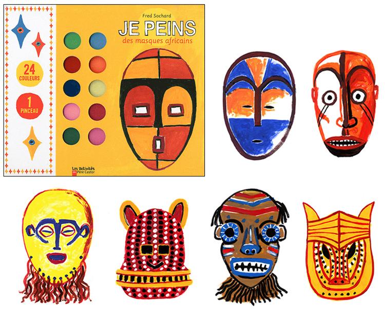 Je peins des masques africains fred sochard illustration - Dessin de masque africain ...