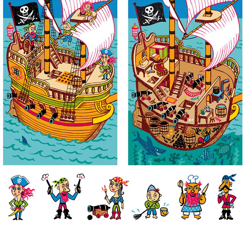 jeu pirates astrapi fred sochard illustration. Black Bedroom Furniture Sets. Home Design Ideas
