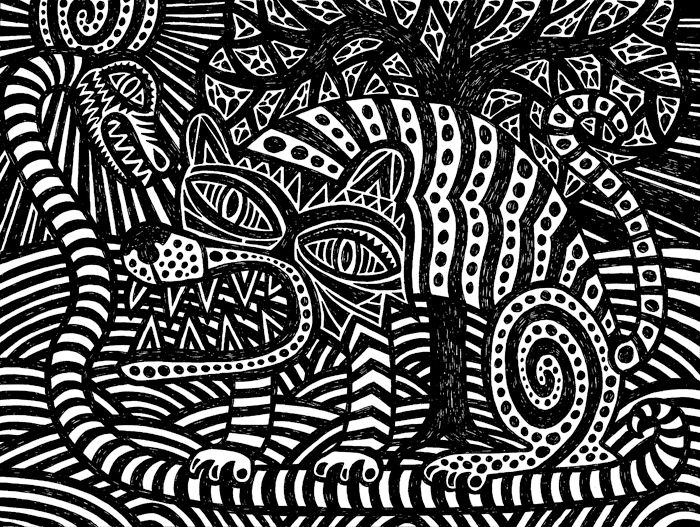 Dessins fred sochard illustration - Dessin arbre noir et blanc ...