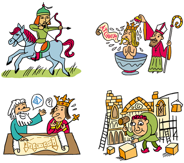 Moyen ge fred sochard illustration - Coloriage moyen age ...