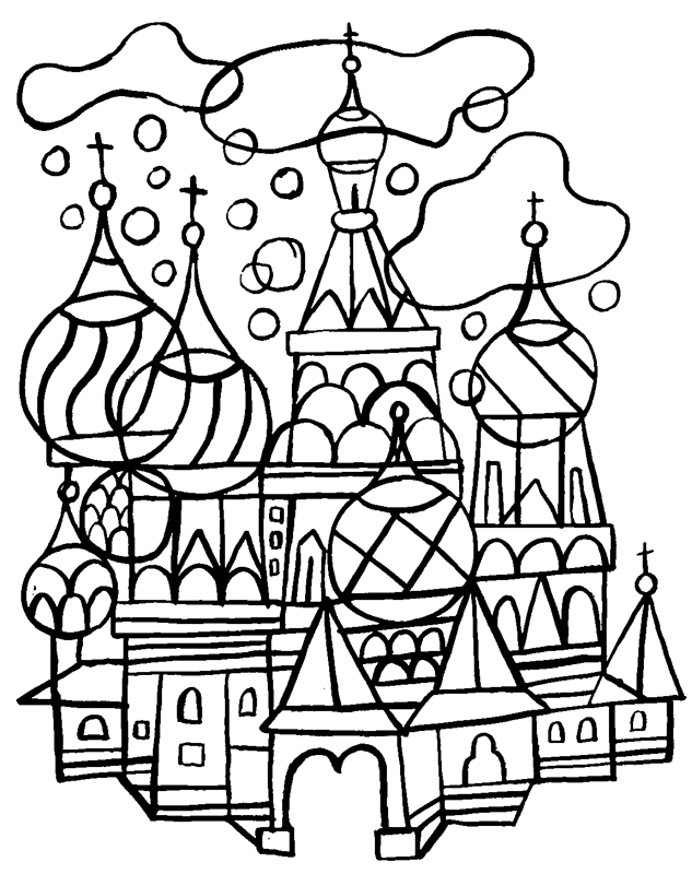 Coloriages fred sochard illustration - Coloriage russie ...