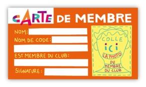 CLUB carte membre orange