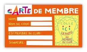 CLUB carte membre orange