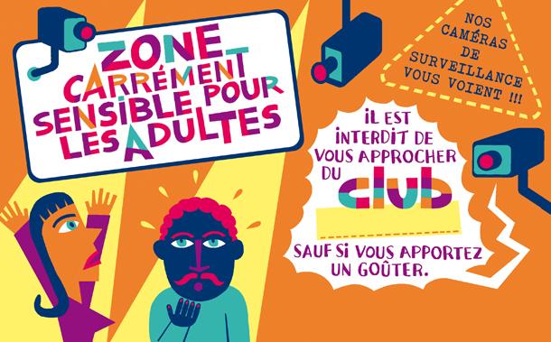 CLUB panneau zone sensible