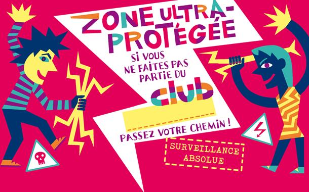CLUB panneau zone ultra