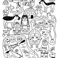 Voyage en coloriage 4 : les Inuits