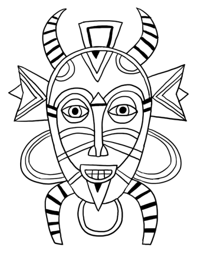 4 senoufo masque